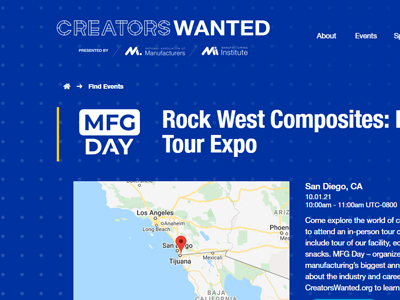 MFG Day October 1, 2021: Register Now for Facility Tours