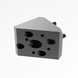 "Fixed 45 Degree Angle Adapter – Main Block (MB) to Round Adapter (AD) - 1.0"", 1.5"" & 2.0"" Systems"