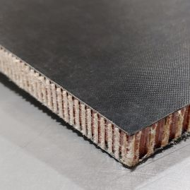 "Sandwich Panel - Black Glass Fiber Skin (0.02"") with Aramid Honeycomb Core (up to 0.460"")"