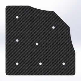 Gusset - 90 Degree Corner with 45 To The Inside - For 1 Inch ID Square - With Pilot Holes