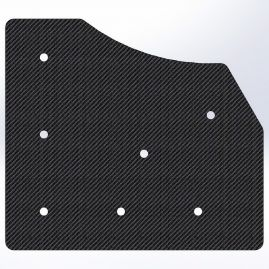 Gusset - 90 Degree Corner with 60 To The Inside - For 1 Inch ID Square - With Pilot Holes