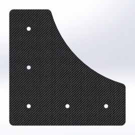 Gusset - 90 Degree - For 1 Inch ID Square - With Pilot Holes