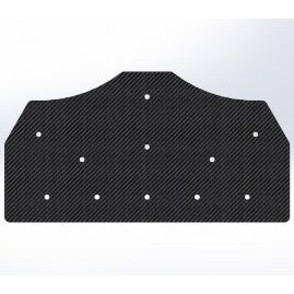 Gusset -  90 Degree Tee with 60 & -60 To the Inside  - For 1 Inch ID Square - With Pilot Holes