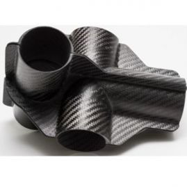 "Carbon Fiber Joint - 5 Way Pass Through - Fits 2.00"" OD Tubes"