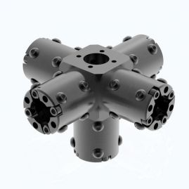 "CARBONNect Main Block with Five Adapters - Round - 1.0"", 1.5"" & 2.0"" Systems"