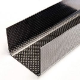 Carbon Fiber - C-Channel - Plain Weave