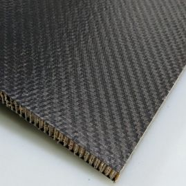 "BLOWOUT - Sandwich Panel - Aramid Honeycomb Core (0.50"") - Carbon Twill Skins (0.02"") - Matte/Matte - 0.54 inch (replacing with SKU 2447-3302 which has a 0.460"" thick core)"
