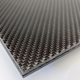 Architectural Panel - 3Form Varia Ecoresin® - Carbon Fiber - Black - 12k 2x2 Twill Weave - Various Finishes