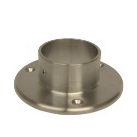 Flat Flange - Flush Connector -  Brushed SS - 1.5 IN (BLOWOUT)