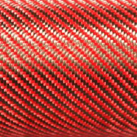 Dry Woven Fabric - Dupont Kevlar/Toray Carbon - Red - 192 GSM - BLOWOUT [WILL NOT BE RE-STOCKED]