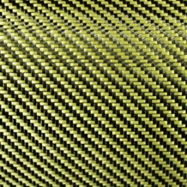 Dry Woven Fabric - Dupont Kevlar/Toray Carbon - Yellow -192 GSM Sold by Yard BLOWOUT [WILL NOT BE RE-STOCKED]