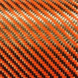 Dry Woven Fabric - Dupont Kevlar/Toray Carbon - Orange -192 GSM