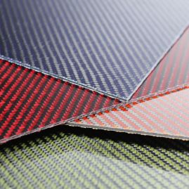 Carbon/Kevlar Hybrid Plate - Various Colors - Various Sizes/Thickness