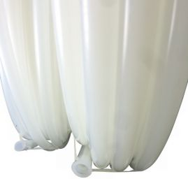 "White - Crack Resistant - Polyethylene Vacuum Bag Tubing - 0.375"" ID x 0.50"" OD - Sold By The Foot"