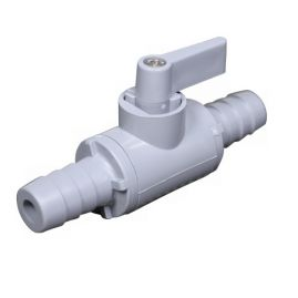 "BLOWOUT - Two-Way Shutoff Valve - 0.5"" OD Barb Fitting - Plastic"