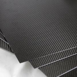 PLATE - CARBON FIBER - 0/90 2X2 TWILL - MATTE/GLOSS - 1MM to 5MM THICK - (GLOBALLY SOURCED)