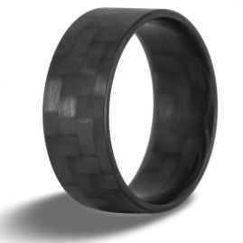 Carbon Fiber Ring - 2x2 Twill Weave - Ultrathin profile