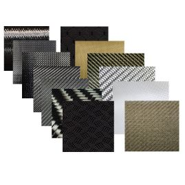 Sample Pack - Dry Fabrics - Choose from Carbon, Fiberglass, Kevlar & More