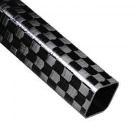 Carbon Fiber Square Tube - Spread Tow Outer Fabric