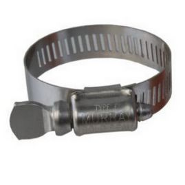 "Worm-Drive Clamps with Thumb Screw for Firm Hose and Tube, 1/2"" to 29/32"" Clamp ID Range"