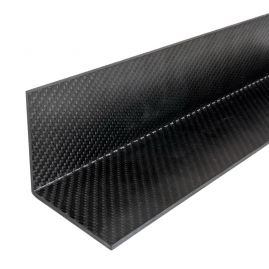 "Angle - Carbon Fiber (Upcycled) - Various Patterns & Thicknesses - 2.50"" legs X 16"" Lengths"