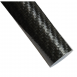 Twill Overwrapped Carbon Fiber Cello Wrap Gloss Pultruded Rod 1.00 inch OD