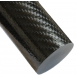 Twill Overwrapped Carbon Fiber Unsanded Pultruded Rod 1.50 inch OD