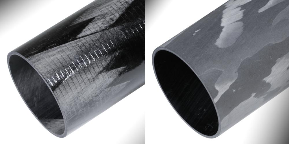 Filament Wound Carbon Fiber Tubes - Unsanded, Sanded