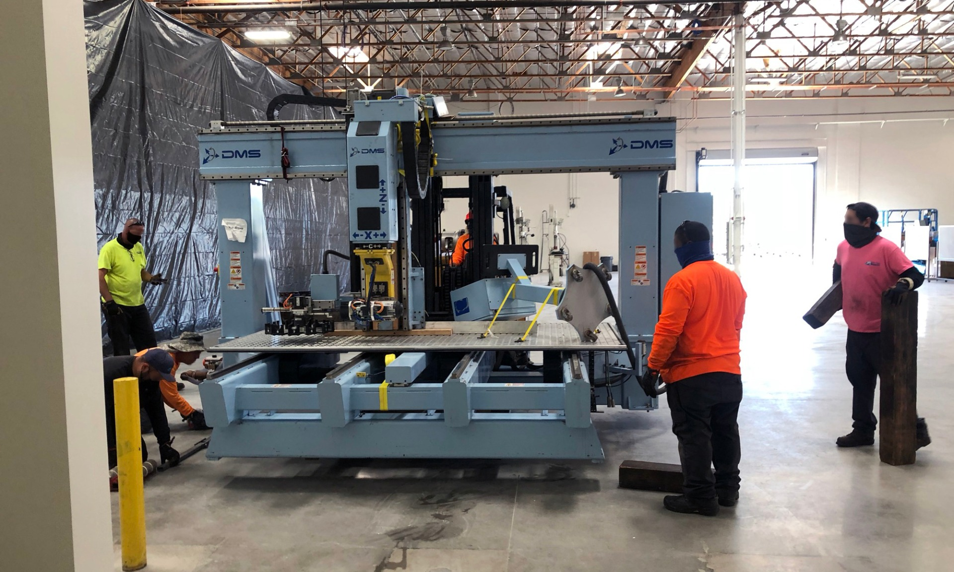 Moving the 5-axis Machine
