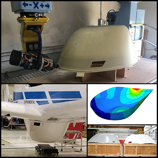 X-band Belly Radome for Commercial Aircraft