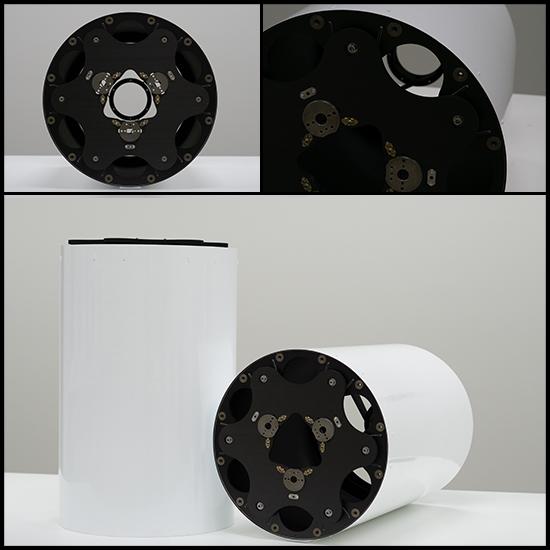 Large diameter optical metering structure