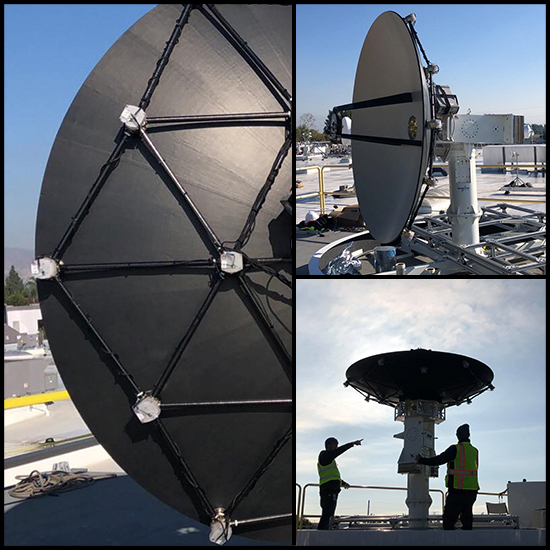 Satellite Datalink 2.4 Meter Deformable Reflector